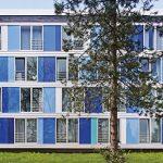 Altenheim Farbgestaltung Außenansicht