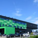 Bürogebäude Bochum Farbgestaltung Außenansicht