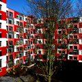 Studentenwohnheim Essen Farbgestaltung Außenansicht