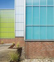 Studentenwohnheim Wuppertal Farbgestaltung Außenansicht