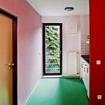 Studentenwohnheim Wuppertal Farbgestaltung Innenansicht