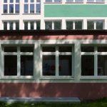 Schule Dortmund Farbgestaltung Außenansicht
