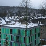 Studentenwohnheim Burse Wuppertal Farbgestaltung Außenansicht