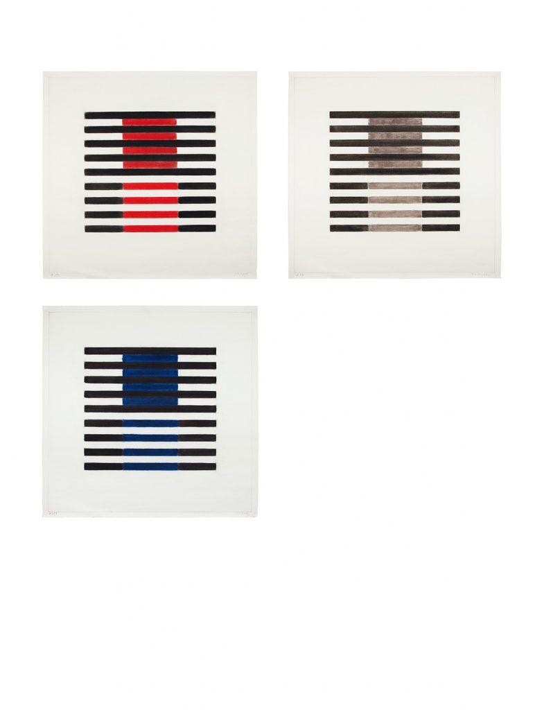 """Seite aus dem Ausstellungskatalog Rudolf Knubel """"Mit den Augen denken"""" Retrospektive 2016/17"""