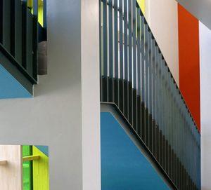 Friedrich Schmuck Farbgestaltung in einer Dinslakener Schule