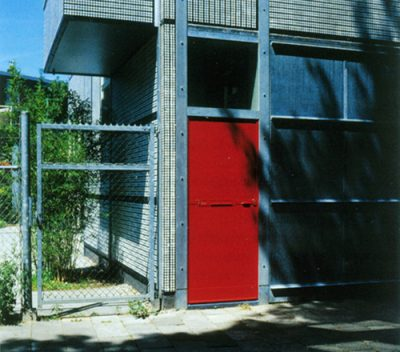 Farbgestaltung Rietveld Garagenhaus