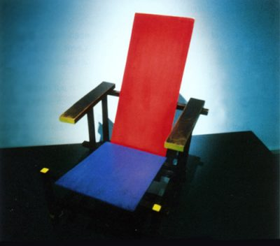 Rietveld Stuhl rot-blau