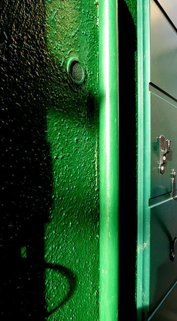 Burano - hochglänzender Anstrich auf rauem Putz