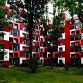 Studentenwohnheim Essen Farbgestaltung der Fassade