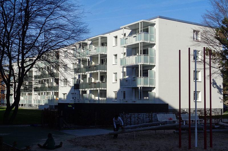 Wohnanlage Vivawest Düsseldorf Farbgestaltung Friedrich Schmuck