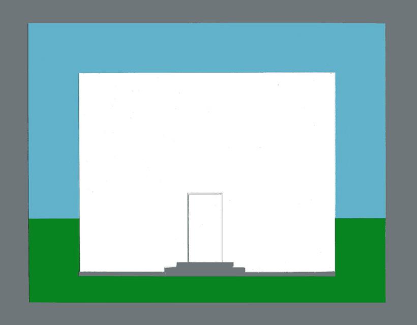 Die Farbe der Tür eines Hauses - Helles