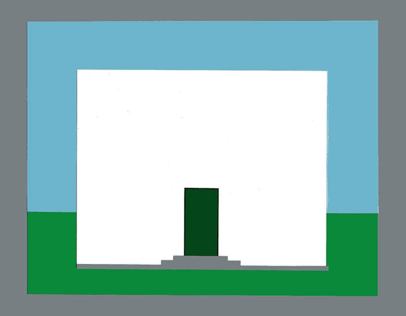 Die Farbe der Tür eines Hauses - Dunkles