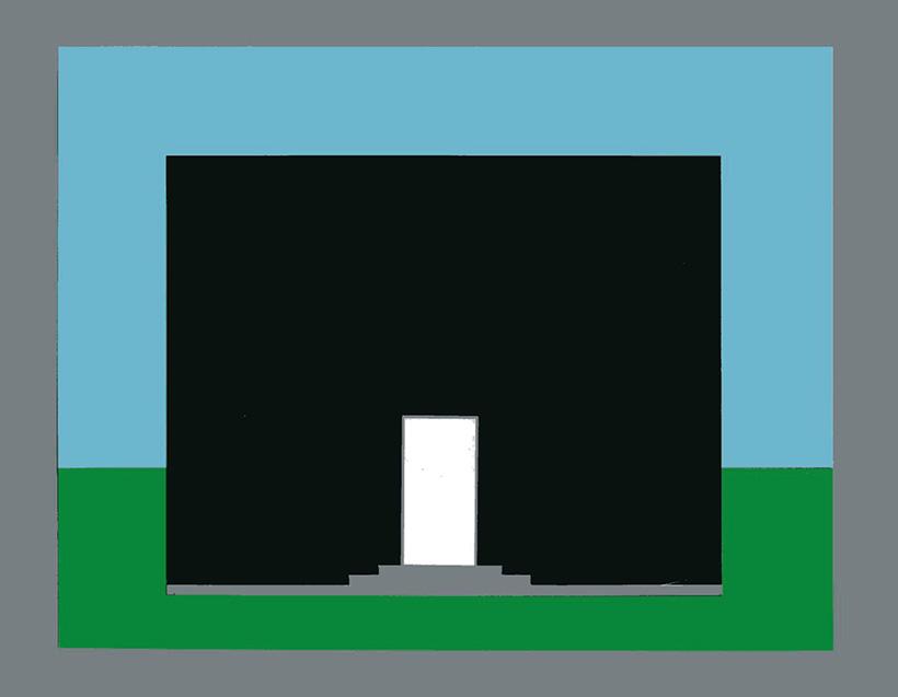 Die Farbe der Tür eines Hauses - Helles Dunkles
